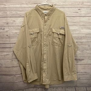Columbia | tan vented long sleeve shirt